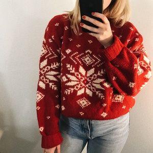 J.Crew Vintage Oversized Chunky Wool Sweater
